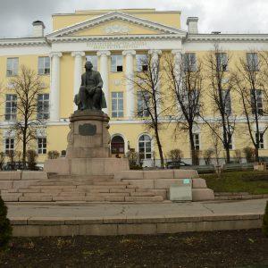 Michailo Lomonosovo universiteto Auditoriato pastatas. Dabar čia Maskvos universiteto Žurnalistikos fakultetas. 2017 m. V. Girininkienės nuotr.