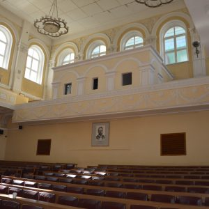 Buvusi senojo universiteto aktų salė, kurioje vykdavo studentų susirinkimai, buvo organizuojamos demonsracijos ir riaušės..2017 m. V. Girininkienės nuotr.