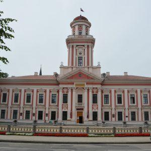 Buvusios Mintaujos gimnazijos pastatas. Dabar jame Gederto Eliaso Jelgavos istorijos ir meno muziejus.2017 m. V. Girininkienės nuotr.