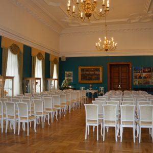 Buvusios Mintaujos gimnazijos aktų salė. 2017 m. V. Girininkienės nuotr.