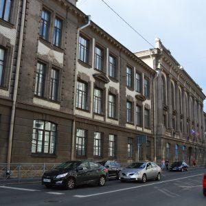 Sankt Peterburgo 2-osios berniukų gimnazijos pastatas. 2017 m. V. Girininkienės nuotr.