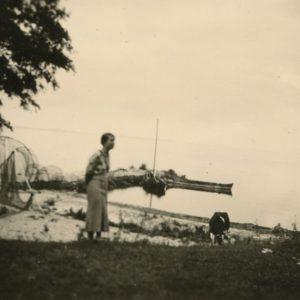Gražutė Šlapelytė vasarodama pajūryje su draugų kompanija tą vasarą (1935 m.) aplankė ir Ventės ragą.