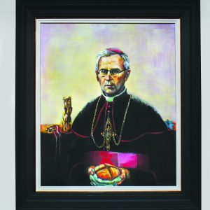 """""""Vyskupas Vincentas Borisevičius (1887.11.23 – 1946.11.18)"""" (2018). Vyskupas Vincentas Borisevičius – Dievo tarnas, labdarys, vargstančiųjų ir skurstančiųjų globėjas. Buvo pasirengęs visada padėti tiems, kuriems reikėjo pagalbos, nežiūrint jų tikėjimo, tautybės ar pasirinktos ideologijos. Daug prisidėjo prie žydų gelbėjimo iš Telšių geto, padėjo nacių kalintiems sovietų armijos belaisviams ir vokiečių nacių kariuomenėje tarnaujantiems sužeistiems kariams. Pokaryje šelpė Lietuvos partizanus. Sovietų sušaudytas Vilniuje. 1999 m. apdovanotas Vyčio Kryžiaus ordino Komandoro didžiuoju kryžiumi. Paveikslas kabo gimtojoje vyskupo kankinio Šunskų parapijos bažnyčioje, Marijampolės savivaldybėje."""